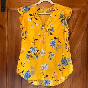 Old Navy women's yellow blouse size large